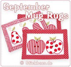 """September Mug Rugs 20x30cm 8x12"""""""