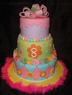 Girls birthday Little cake by Heather Pinterest