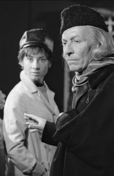 The First Doctor (William Hartnell) with his granddaughter, Susan Foreman (Carole Ann Ford).