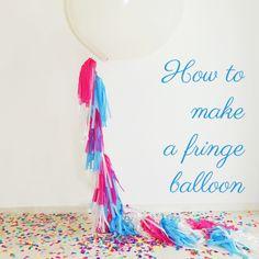 Fringe Balloon -Tassel Balloon -DIYフリンジタッセルバルーン -wedding -Maternity -作り方 |ARCH DAYS