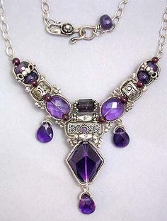 Purple Queen Necklace by Eni Oken: AAA Gemstone quality Amethyst