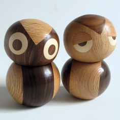 Night and Day Owls (Set of 2) by Noli Noli