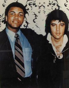 Muhammed Ali and Elvis Presley.