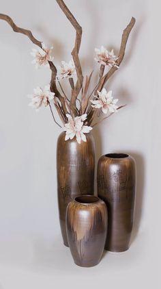 现代欧式复古陶瓷落地大花瓶组合酒店会所客厅装饰插花中式陶罐-淘宝网