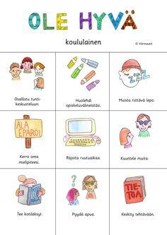 Learn Finnish, Finnish Language, Beginning Of The School Year, Early Childhood Education, Teaching, Comics, Peda, Early Education, Education