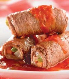 Bistec rellenos de verduras