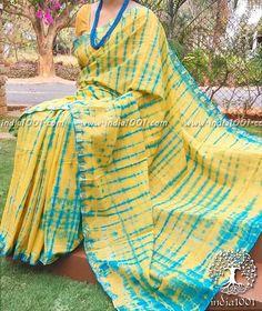c29ba79f5a Beautiful Cotton Saree with Shibori Dyeing Shibori Sarees, Ikkat Saree,  Designer Sarees Collection,
