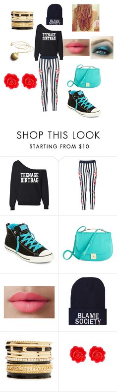 """JJ At The Arcade"" by jade-moore-1 ❤ liked on Polyvore featuring Converse, LORAC, 2b bebe and Fornash"