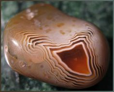Agate pebble from Lake Superior