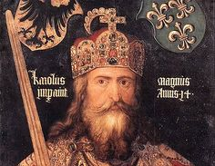 Charlemagne inherited the Frankish crown in 768. During his reign (768-814), he subdued Bavaria, conquered Lombardy and Saxony, and established his authority in central Italy. By the end of the eighth century, his kingdom, later to become known as the First Reich (empire in German), included present-day France, the Netherlands, Belgium, and Luxembourg, as well as a narrow strip of northern Spain, much of Germany and Austria, and much of the northern half of Italy. Charlemagne, founder