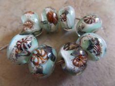 stoursglass  Ocean Theme Lampwork Beads Real Sand by stoursglass on Etsy