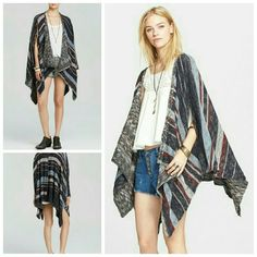 Free People Big Trail Poncho Brand new with tags  So adorable!   Sold out everywhere.   This is tagged as an XS but will fit an XS to a M and still look really cute.  no trades Free People Sweaters Shrugs & Ponchos