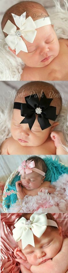 Girls Kids Child Baby boho rock star Party Bow Hair Head band headband Bandana