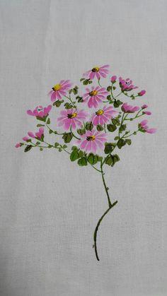 제가 좋아하는 분이 하시는 천아트공방입니다 연산동에 있어요. 연일 시장 근처.. 연산로터리에서도 가까워... Saree Painting, Fabric Painting, Fabric Art, Acrylic Flowers, Watercolor Flowers, Watercolor Paintings, Sketch Painting, Watercolor Sketch, Fabric Paint Shirt