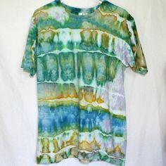 Tie Dye T-Shirt Green Tie Dye Shirt Mens Size Large by HumbleDyeDesigns, $22.00