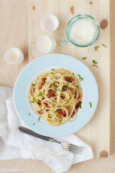 Todellinen klassikko: pasta carbonara | Kotivinkki