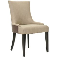 Safavieh En Vogue Dining Becca Beige Viscose and Back Side Chair