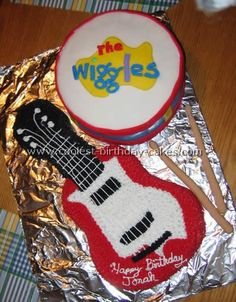 """don't like """"the wiggles"""" but love the idea for the drum to be smash cake Diy Birthday Cake, First Birthday Parties, 3rd Birthday, Birthday Party Themes, First Birthdays, Birthday Ideas, Wiggles Birthday, Wiggles Party, Wiggles Cake"""