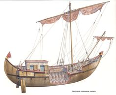 Cross-section of Roman merchant ship