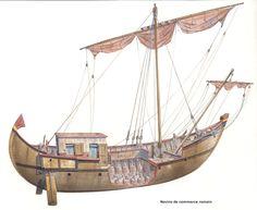 Cross-section of Roman merchant ship