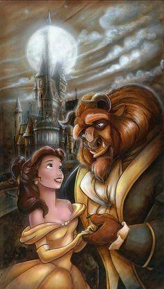 Beauty & the Beast : ? The Beauty & the Beast ? The post Disney Magic, Film Disney, Disney Couples, Disney Art, Disney Movies, Disney Theme, Disney Events, Disney Collage, Disney Villains