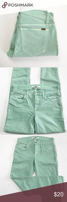 Sea foam green skinny jeans Sea foam green skinny Else jeans. Flat lay waist measures 14, inseam 27, and rise 12. All measurements are approximate Else Jeans Skinny