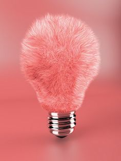 pink furry lightbulb - odd, odd, odd!