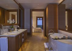 A suite at theAman Sveti Stefan in Montenegro, once a royal villa.