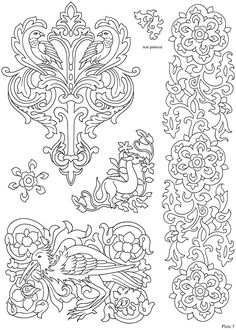 Elegant Medieval Iron-On Transfer Patterns Welcome to Dover Publications