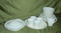 Vintage Dinner Ware Creampetal Grindley England set for 4 Ceramic Bowls & Plates | eBay