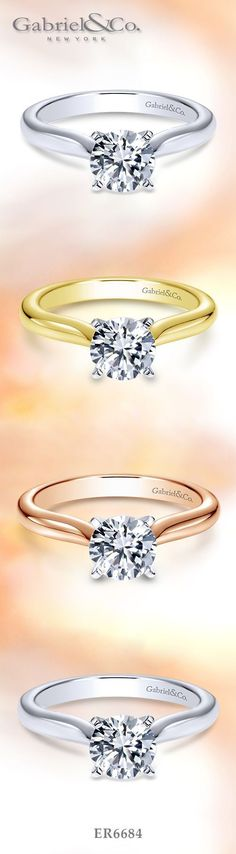 Gabriel & Co. - Vote  Gabriel & Co. - Voted  #1  Most Preferred Bridal and Fashion Brand.   A Diamond Solitaire 14k White Gold Diamond Engagement Ring. Available in White Gold, Yellow Gold, Rose Gold, Platinum.