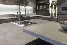 "Loving the Neolith sintered stone range, and this colour ""Beton"" is stunning."