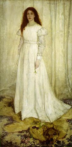 We're studying Whistler now. He was very eccentric, but an excellent artist. -- James Whistler, Symphony in White, No. 1: The White Girl 1862; Oil on canvas, 214.6 x 108 cm; National Gallery of Art, Washington