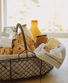 Good morning breakfast basket