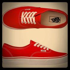 Red Vans Shoes Red Vans, women size 9, men size 7.5 Vans Shoes