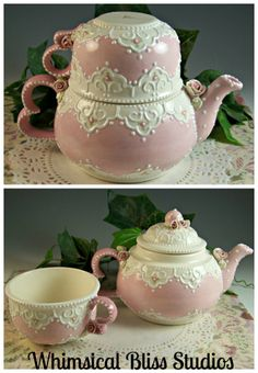 Pink Heart Tea-for-One