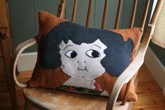 Old Fashioned Girl Pillow