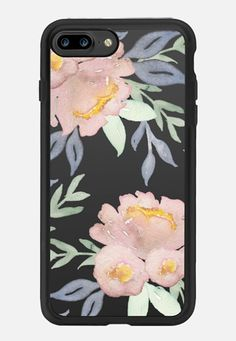 Casetify iPhone 7 Plus Classic Grip Case - Moody Watercolor Florals by Do Tell…