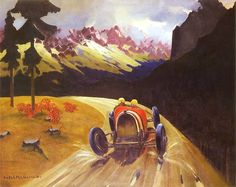 Rafal Malczewski (Polish painter, The Tatra Rally 1930 Graphic Portfolio, Portfolio Design, Montreal, Poland, Oil On Canvas, Art Deco, Graphic Design, Rally, Amazing