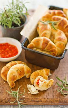 Stuffed Rosemary Bread Rolls