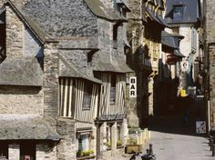 Street Scene, Old Town, Vitre, Ille-Et-Vilaine, Brittany, France Photographic Print by David Hughes at Art.com
