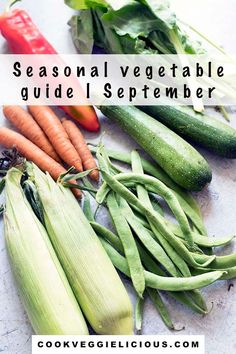 There are so many delicious vegetables in season in September. From spinach to sweetcorn and beetroot to broccoli eating seasonally will save you money and means that you'll be eating your veggies at their absolute best. My guide to seasonal vegetables in September will help you to know exactly what's in season this month. #seasonalveg #seasonalvegetables #vegetableguide #septembervegetables Autumn Recipes Vegetarian, Vegetarian Dinners, Fall Recipes, Summer Recipes, Vegan Recipes, Vegan Meals, Kinds Of Vegetables, Veggies, Green Bean Curry