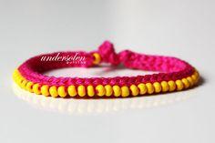 crochet and beads bracelet tutorial