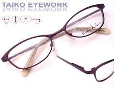 3d312f54e1 (091004-10) Nicole Miller Eyeglass Brille Feminine Cat Eye Purple Frame