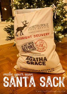 DIY Santa Sack and Free Printable