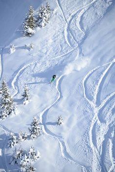 Powder from La Clusaz Ski resort