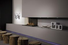 Our Opti-myst Cassette Fires couldn't get any more real. These electric fires do not require flue and are zero clearance. Enjoy the warmth and none of the hassles of a traditional fireplace.