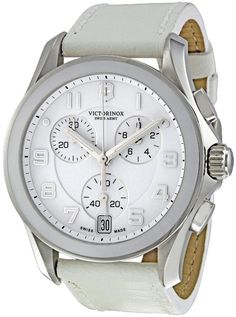 swiss army watches women | Swiss Army Victorinox Chrono Classic Leather Ladies Watch 241500 Wish I could find a black band/white face!
