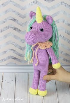 This fairy shy unicorn amigurumi can make a great gift! Crochet it with our step-by-step crochet pattern and personalize it with colors, embroidery, or some cute decorations. Amigurumi Patterns, Amigurumi Doll, Crochet Patterns, Crochet For Kids, Free Crochet, Knitting Projects, Crochet Projects, Diy Projects, Crochet Dolls