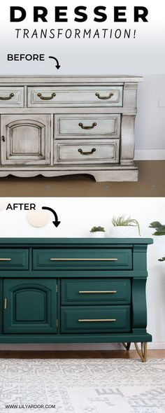 Dresser Makeover / Furniture Update - All About Decoration Furniture Update, Refurbished Furniture, Repurposed Furniture, Furniture Projects, Furniture Makeover, Cool Furniture, Furniture Design, Bedroom Furniture, Dresser Furniture